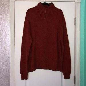 Patagonia mens XXL 100% cashmere 1/4 zip sweater